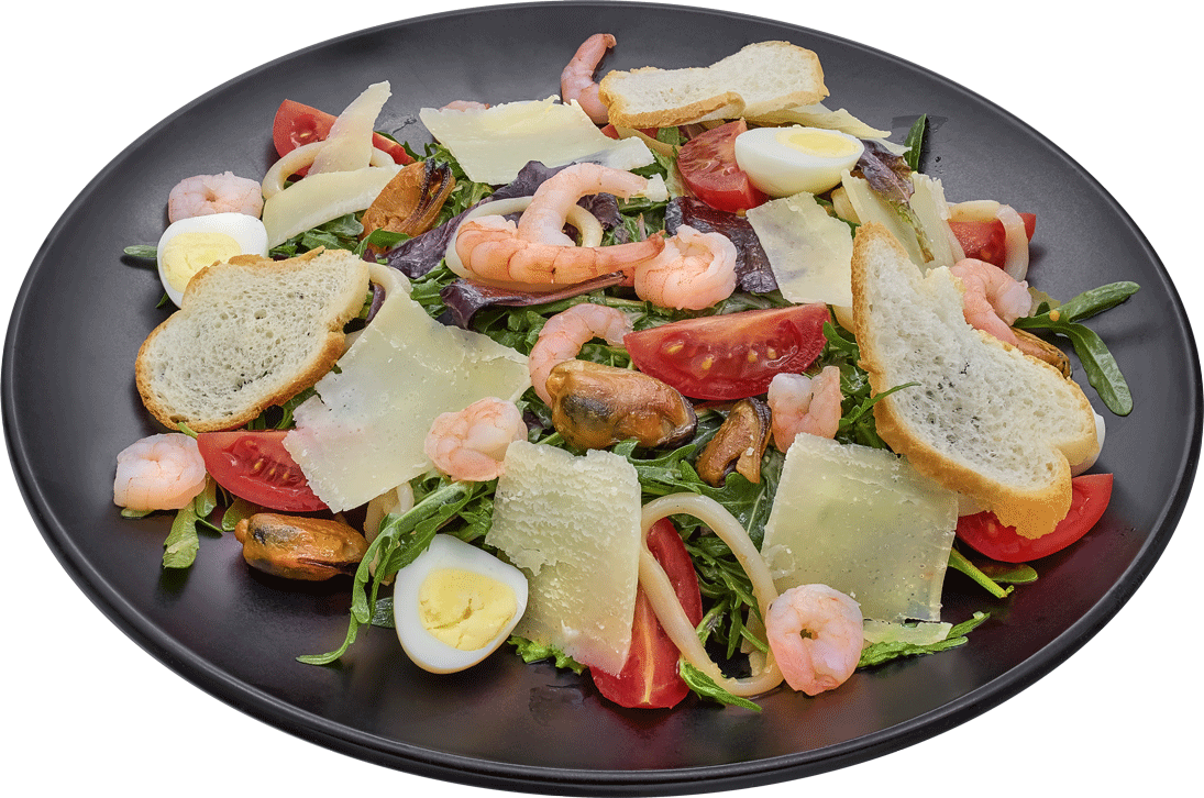 Фото - Салат Цезар з морепродуктами